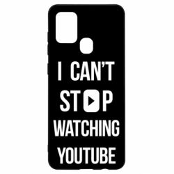 Чохол для Samsung A21s I can't stop watching youtube