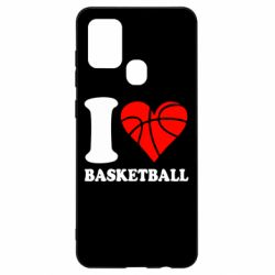 Чехол для Samsung A21s I love basketball