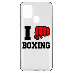 Чехол для Samsung A21s I love boxing