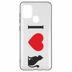 Чохол для Samsung A21s I love cat