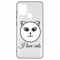 Чохол для Samsung A21s I love cats art