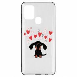 Чохол для Samsung A21s I love dachshund