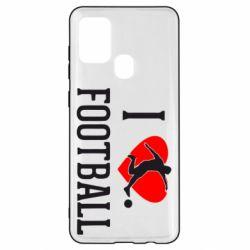 Чохол для Samsung A21s I love football