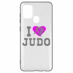 Чехол для Samsung A21s I love Judo