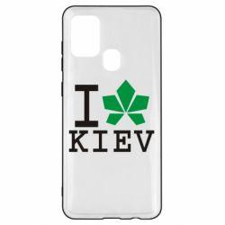 Чохол для Samsung A21s I love Kiev - з листком