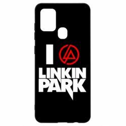 Чехол для Samsung A21s I love Linkin Park