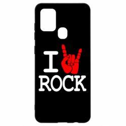 Чехол для Samsung A21s I love rock