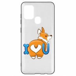 Чехол для Samsung A21s I love you corgi