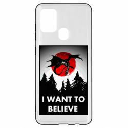 Чехол для Samsung A21s I want to BELIEVE poster