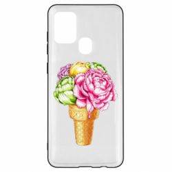 Чохол для Samsung A21s Ice cream flowers