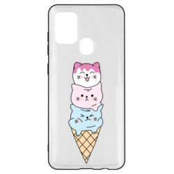 Чехол для Samsung A21s Ice cream kittens