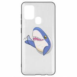 Чехол для Samsung A21s Ikea Shark Blahaj