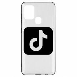 Чехол для Samsung A21s Иконка тик ток