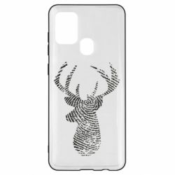 Чохол для Samsung A21s Imprint of human skin in the form of a deer