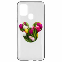 Чохол для Samsung A21s Inner world flowers mickey mouse