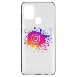 Чехол для Samsung A21s Instagram spray