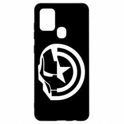 Чохол для Samsung A21s Iron Man and Captain America