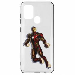 Чехол для Samsung A21s Iron man with the shadow of the lines