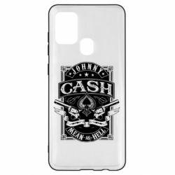 Чохол для Samsung A21s Johnny cash mean as hell