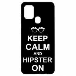 Чехол для Samsung A21s Keep calm an hipster on