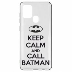 Чехол для Samsung A21s KEEP CALM and CALL BATMAN
