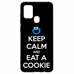 Чехол для Samsung A21s Keep Calm and Eat a cookie