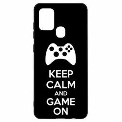 Чехол для Samsung A21s KEEP CALM and GAME ON