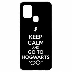 Чехол для Samsung A21s KEEP CALM and GO TO HOGWARTS