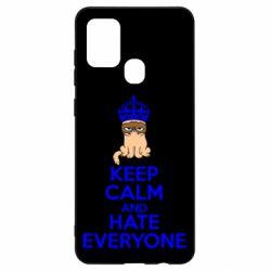 Чехол для Samsung A21s KEEP CALM and HATE EVERYONE