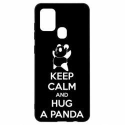Чохол для Samsung A21s KEEP CALM and HUG A PANDA