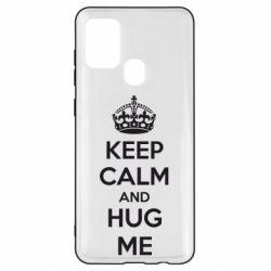 Чохол для Samsung A21s KEEP CALM and HUG ME