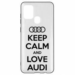 Чехол для Samsung A21s Keep Calm and Love Audi