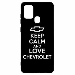 Чохол для Samsung A21s KEEP CALM AND LOVE CHEVROLET