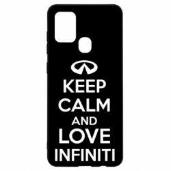 Чехол для Samsung A21s KEEP CALM and LOVE INFINITI