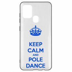 Чехол для Samsung A21s KEEP CALM and pole dance