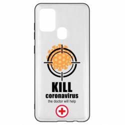 Чехол для Samsung A21s Kill coronavirus the doctor will help