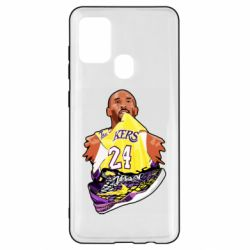 Чехол для Samsung A21s Kobe Bryant and sneakers