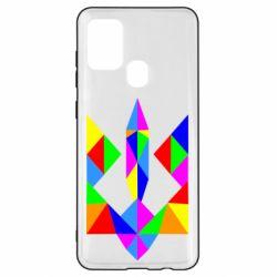 Чехол для Samsung A21s Кольоровий герб