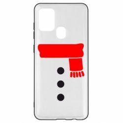 Чохол для Samsung A21s Костюм сніговика