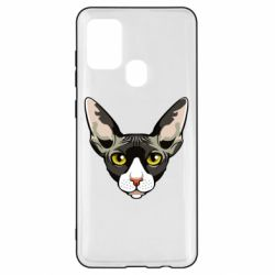Чохол для Samsung A21s Котя сфінкс жовті очі
