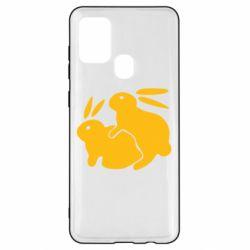 Чохол для Samsung A21s Кролики