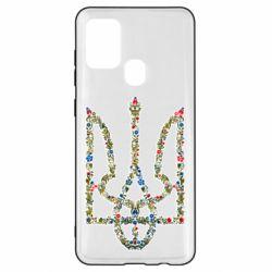 Чехол для Samsung A21s Квітучий герб України