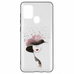Чехол для Samsung A21s Lady in a hat
