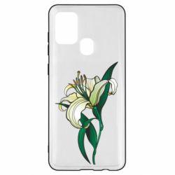 Чохол для Samsung A21s Lily flower
