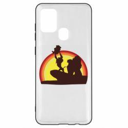 Чехол для Samsung A21s Lion king silhouette