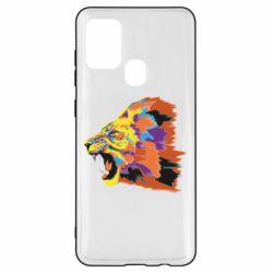 Чехол для Samsung A21s Lion multicolor