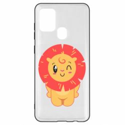 Чехол для Samsung A21s Lion with orange mane