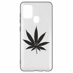 Чохол для Samsung A21s Листочок марихуани
