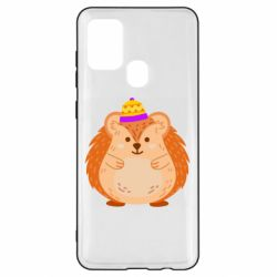 Чохол для Samsung A21s Little hedgehog in a hat