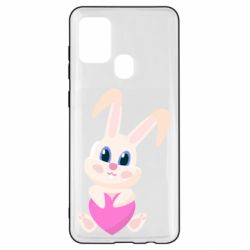 Чехол для Samsung A21s Little rabbit with a heart